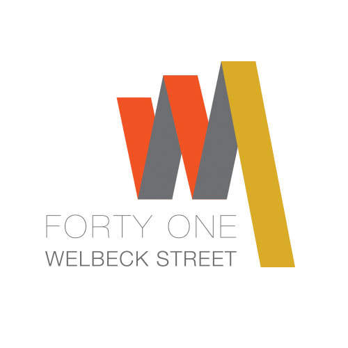 MJ Associates branding for 41 Welbeck Street