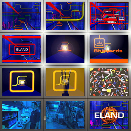 MJ Associates exhibition video screens for Eland