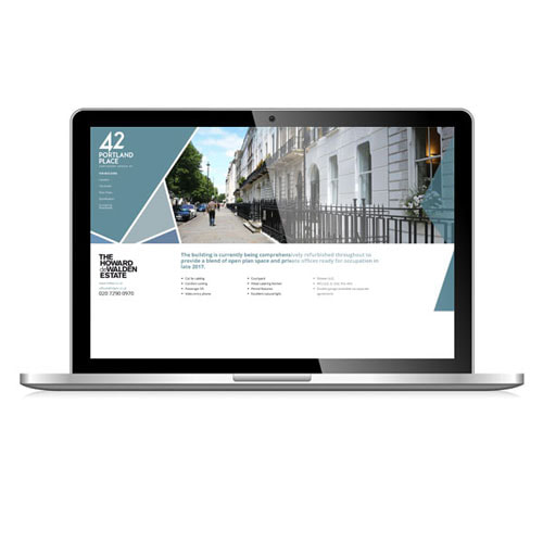 MJ Associates website for 42 Portland Place